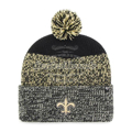 Picture of New Orleans Saints 47 Brand Static Cuff Knit Hat in Black
