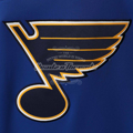 Picture of Men's St. Louis Blues Adidas Blue Platinum Jersey Pullover Hoodie