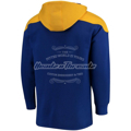 Picture of Men's St. Louis Blues Fanatics Branded Blue/Gold Breakaway Lace Up Hoodie