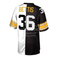 Picture of Men's Pittsburgh Steelers Jerome Bettis Mitchell & Ness Black/White Retired Player Split Replica Jersey
