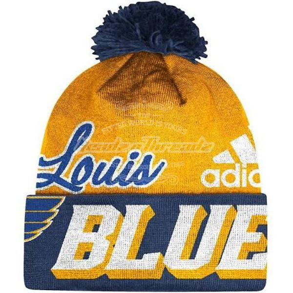 Picture of Saint Louis Blues ST Beanie Adidas NHL Cuffed Pom Knit