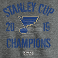 Picture of St. Louis Blues Fanatics Branded 2019 Stanley Cup Champions Ice Rink Tri-Blend T-Shirt - Heather Gray