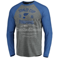 Picture of St. Louis Blues Fanatics Branded 2019 Stanley Cup Champions Ice Rink Tri-Blend Raglan Long Sleeve Shirt - Heather Gray