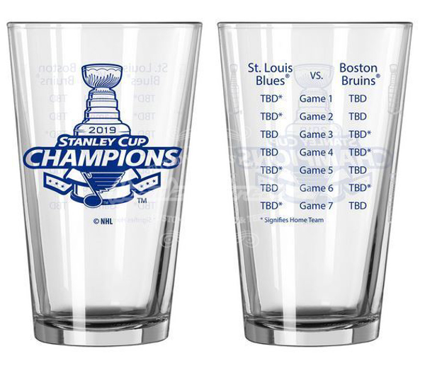 Picture of St. Louis Blues Boelter 2019 Stanley Cup Final Champions Series Summary Pint Glass