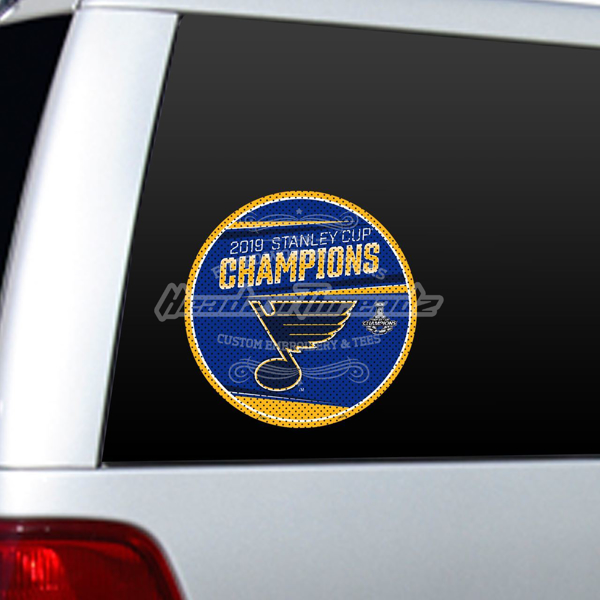 Picture of St. Louis Blues Freemont Die 2019 Stanley Cup Final Champions Series Large Window Film