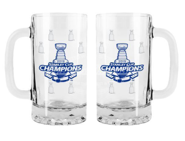 Picture of St. Louis Blues Boelter 2019 Stanley Cup Final Champions 16 oz. Satin Etch Tankard