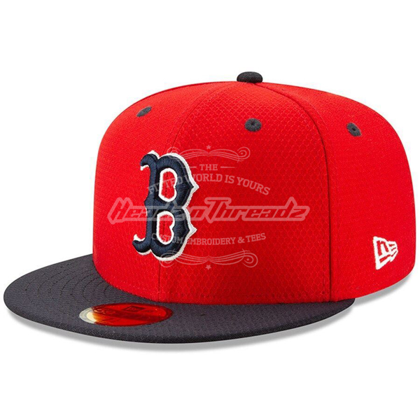 Picture of Boston Red Sox New Era 2019 Batting Practice 59FIFTY Fitted Hat - Red/Navy