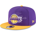 Picture of Men's Los Angeles Lakers New Era Purple/Gold 2-Tone Original Fit 9FIFTY Adjustable Snapback Hat