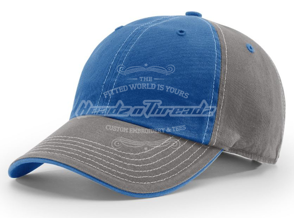 Picture of Richardson Washed Chino Charcoal 322 Adjustable Hat