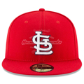 Picture of St. Louis Cardinals New Era 2019 Postseason Sidepatch 59FIFTY Fitted Hat - Red