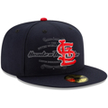 Picture of New Era St. Louis Cardinals Youth Navy Authentic Collection On-Field Road 59FIFTY Fitted Hat