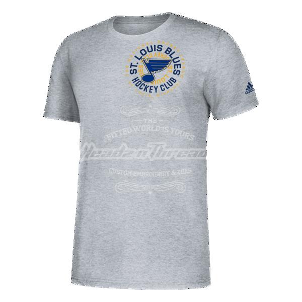 Men's St. Louis Blues Adidas Amplifier Circle T-Shirt