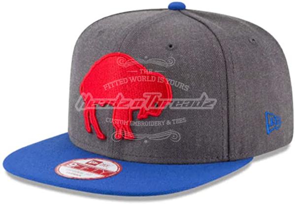 Buffalo Bills New Era Historic Logo Baycik 9FIFTY Snapback Adjustable Hat - Royal/Red