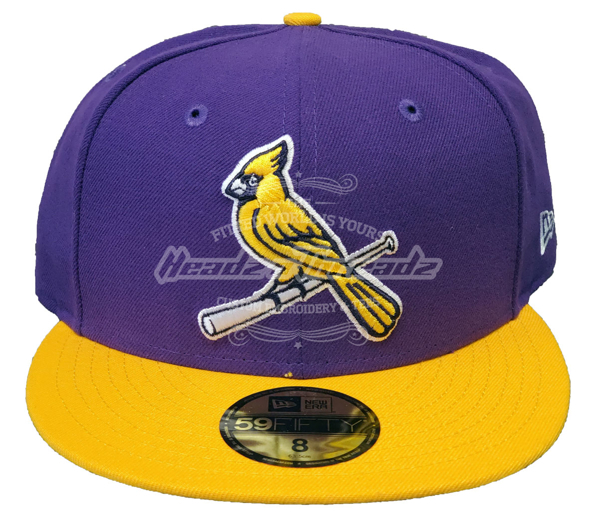 St. Louis Cardinals Custom New Era 5950 Fitted Verse Lakers Cap with Birds on Bat