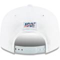 Men's New England Patriots New Era White 2019 NFL Sideline Platinum 9FIFTY Snapback Adjustable Hat