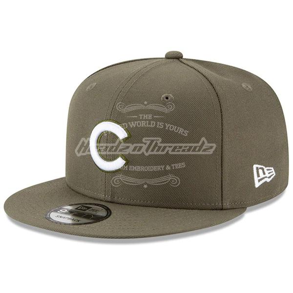 Men's Chicago Cubs New Era Olive Basic 9FIFTY Adjustable Snapback Hat