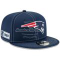 New Era Navy New England Patriots 2019 NFL Sideline Road 9FIFTY Snapback Adjustable Hat