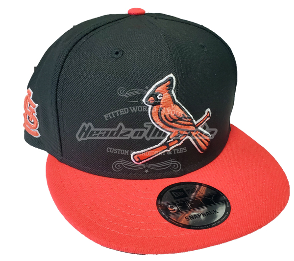 St. Louis Cardinals Custom Lava Pink/Black New Era 5950 Fitted Cap