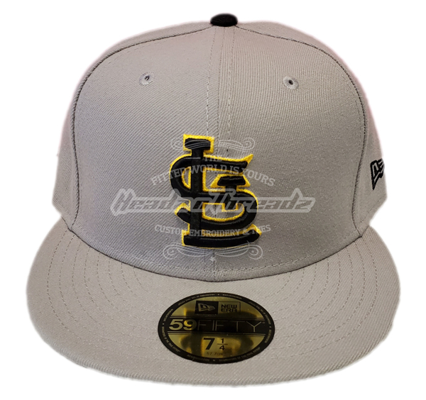 St. Louis Cardinals Custom Grey/Black/Yellow New Era Fitted Cap